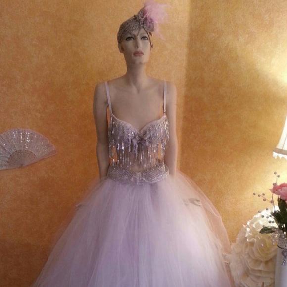 Sebrina Love / Sebrina Love Bridals Dresses & Skirts - Sequin Illusion Crystal Look  Bralette Ballgown